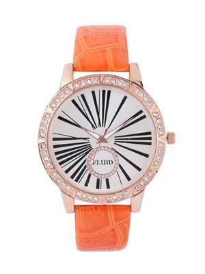 Fluid Fl405-Or01 Cream Women Watch