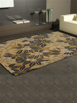 Royzez Handmade Woollen Rug Gold K00651