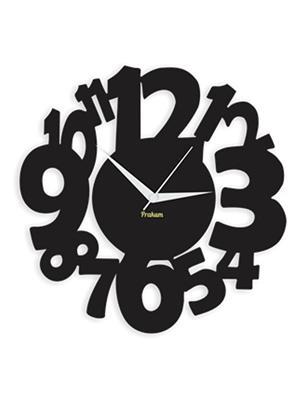 Prakum Flkt12Fma01-02 Black Wall Clock