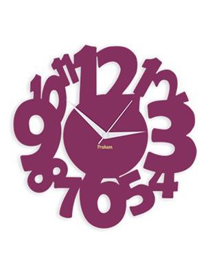 Prakum Flkt12Fma01-04 Purple Wall Clock