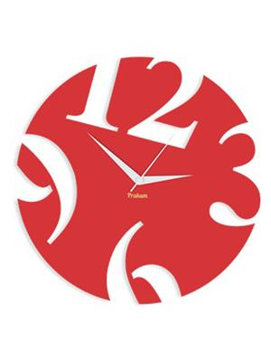 Prakum Flkt12Fma01-07 Red Wall Clock