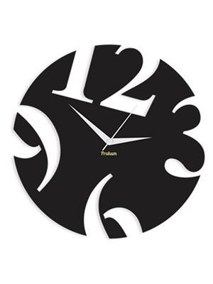 Prakum Flkt12Fma01-08 Black Wall Clock