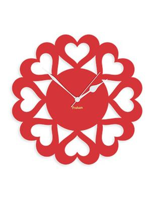 Prakum Flkt12Fma01-102 Red Wall Clock