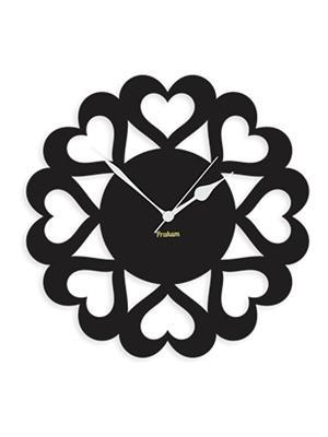 Prakum Flkt12Fma01-103 Black Wall Clock