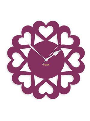 Prakum Flkt12Fma01-105 Purple Wall Clock