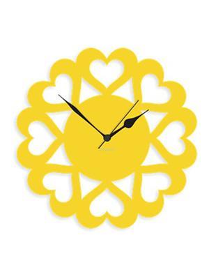 Prakum Flkt12Fma01-107 Yellow Wall Clock