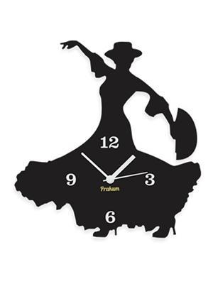 Prakum Flkt12Fma01-108 Black Wall Clock