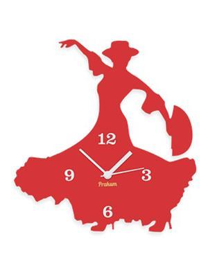 Prakum Flkt12Fma01-109 Red Wall Clock
