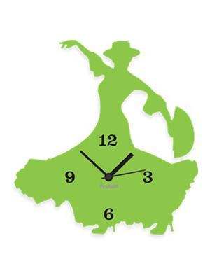 Prakum Flkt12Fma01-112 Green Wall Clock