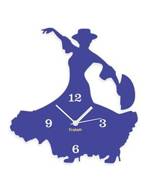 Prakum Flkt12Fma01-113 Blue Wall Clock