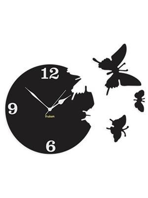 Prakum Flkt12Fma01-114 Black Wall Clock
