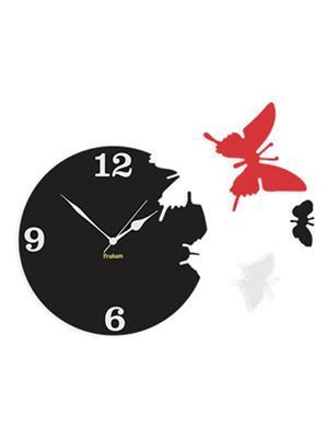 Prakum Flkt12Fma01-115 Black Wall Clock