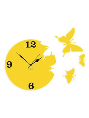 Prakum Flkt12Fma01-117 Yellow Wall Clock