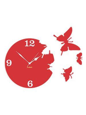 Prakum Flkt12Fma01-119 Red Wall Clock