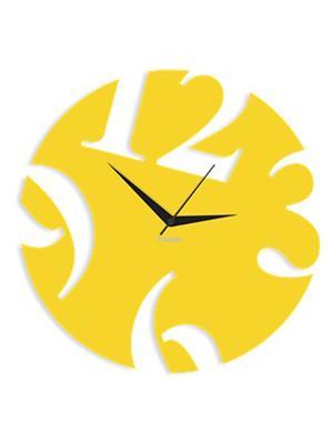 Prakum Flkt12Fma01-11 Yellow Wall Clock