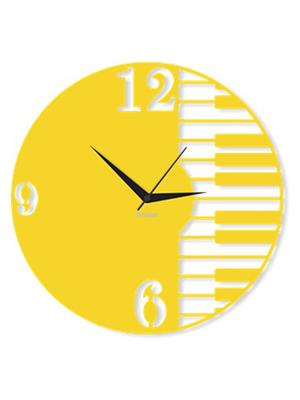 Prakum Flkt12Fma01-16 Yellow Wall Clock