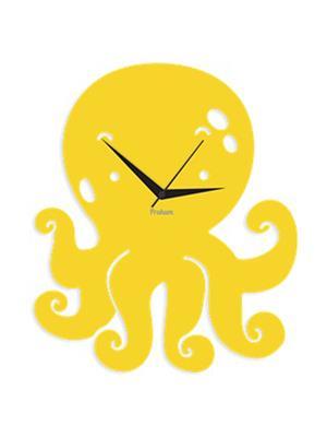Prakum Flkt12Fma01-27 Yellow Wall Clock