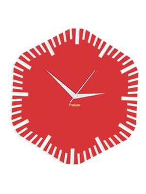 Prakum Flkt12Fma01-38 Red Wall Clock