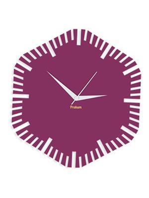 Prakum Flkt12Fma01-41 Purple Wall Clock