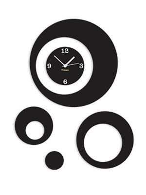 Prakum Flkt12Fma01-55 Black Wall Clock