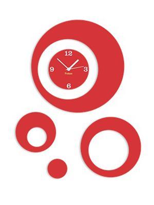 Prakum Flkt12Fma01-57 Red Wall Clock