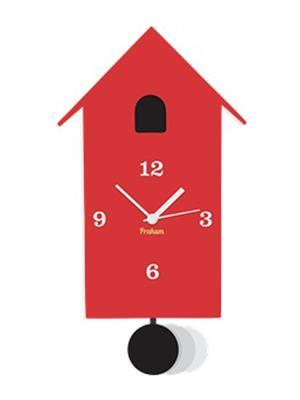 Prakum Flkt12Fma01-62 Red Wall Clock