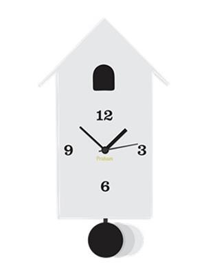 Prakum Flkt12Fma01-63 White Wall Clock