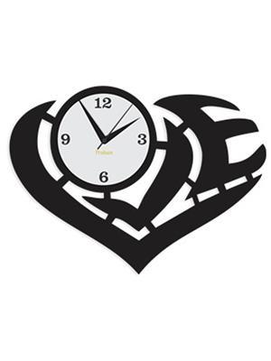 Prakum Flkt12Fma01-68 Black Wall Clock