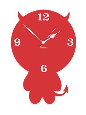 Prakum Flkt12Fma01-74 Red Wall Clock