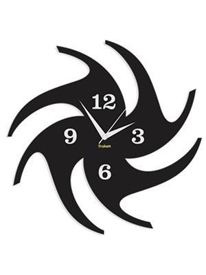 Prakum Flkt12Fma01-86 Black Wall Clock