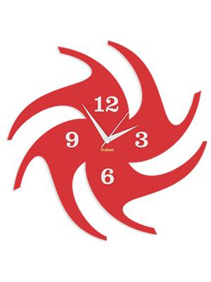 Prakum Flkt12Fma01-87 Red Wall Clock