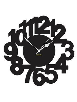 Prakum Flkt12Fma01-92 Black Wall Clock