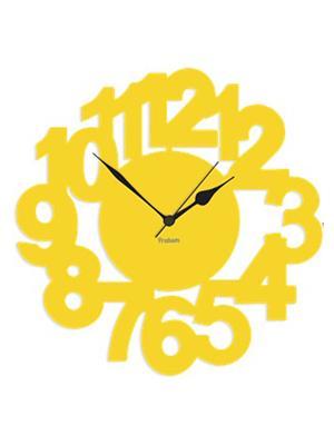 Prakum Flkt12Fma01-96 Yellow Wall Clock