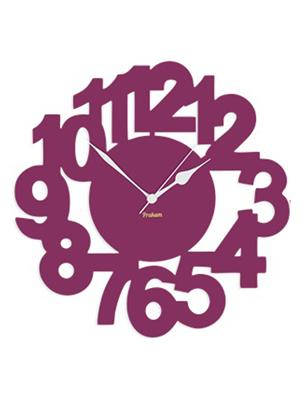 Prakum Flkt12Fma01-97 Purple Wall Clock