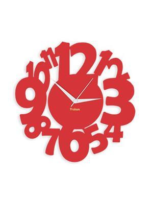 Prakum Flkt16Fma01-01 Red Wall Clock