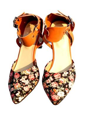 PrideS Walk Floral01 Black Women Pumps