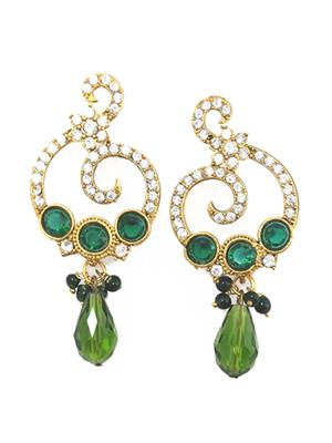 Fashion Pitaraa FPER804230 Green Women Earring