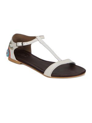 Flora FR-2051-02 White Women Sandal