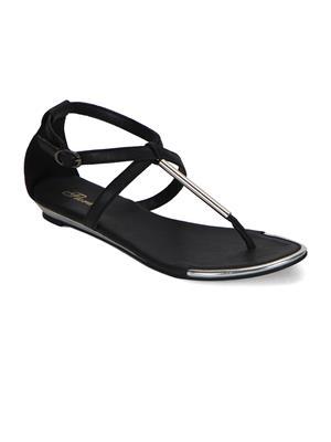 Flora FR-4255-01 Black Women Sandal