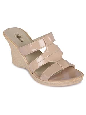 Flora FR-4502-03 Cream Women Wedge