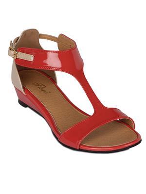 Flora FR-5082-50 Coral Women Sandal