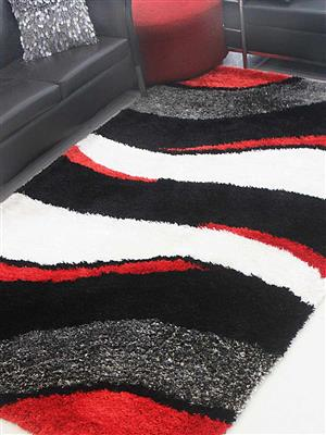 Royzez Handmade Polyester Shaggy Rug Multicolor K00029