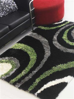 Royzez Handmade Polyester Shaggy Rug Multicolor K00030