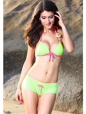 Lovemate Frbd-351 Green Women Beach & Swimwear