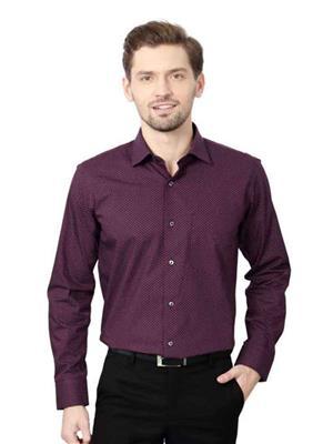 Find Stuff FS12 Purple Polka Print Men Shirt Fabric