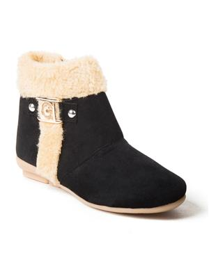 Mango People Fwks-012-Bk Black Girl Boots