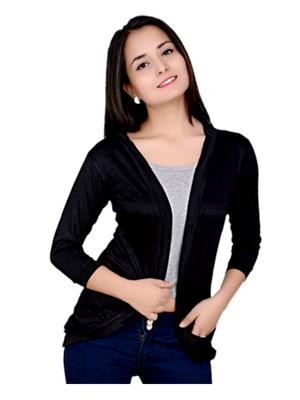 Fashion Wing FWPSG103 Black Women Shrug