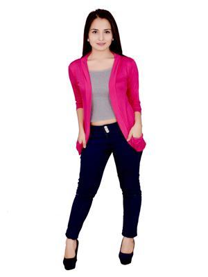 Fashion Wing FWPSG103 Pink Women Shrug
