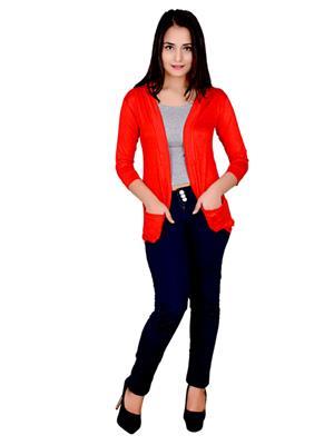 Fashion Wing FWPSG103 Red Women Shrug