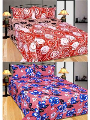 Furnishing Zone Fzbcrt0411 Multicolored Double Bedsheet Combo Pack